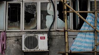 7 قتلى و11 جريحا بيبب حريق نشب في شقة في هونغ كونغ