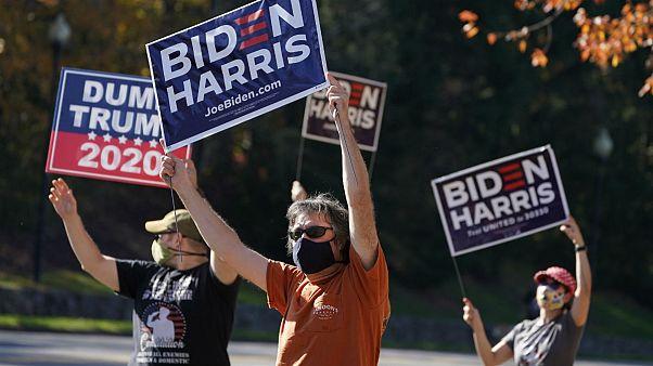 حامیان جو بایدن و دونالد ترامپ، رقبای انتخابات ۲۰۲۰ آمریکا