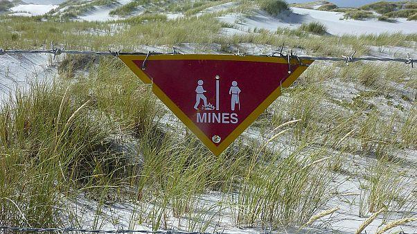 جزر الفوكلاند تحتفل بإزالة آخر لغم من مخلفات الحرب على أراضيها