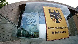 منظر خارجي للمركز الإعلامي للحكومة الالمانية في برلين. 2020/07/10