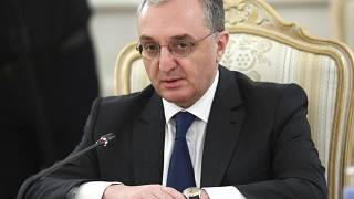In this file photo released by Russian Foreign Ministry Press Service, Armenia's Foreign Minister Zohrab Mnatsakanyan attends a meeting with the Russian Foreign Minister.