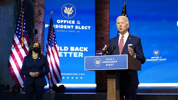 Joe Biden et Kamala Harris, Wilmington, Delaware, USA, 16 novembre 2020