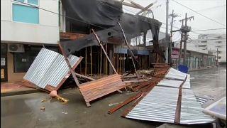 Destrozos en el Caribe norte de Nicaragua