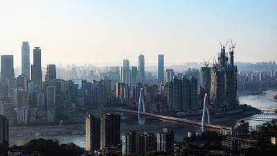 Skyline of the Chinese city of Chongqing.