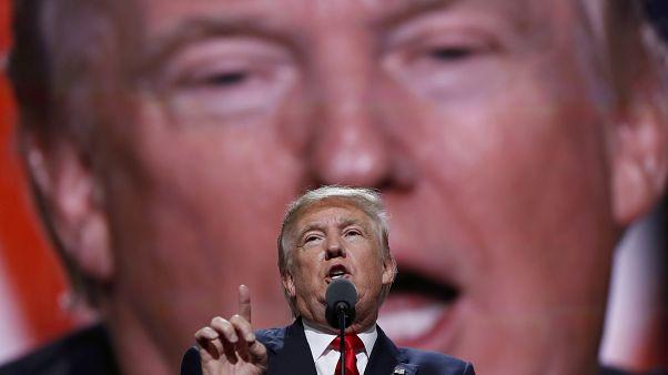 Archives : Donald Trump lors d'une Convention républicaine à Cleveland - Ohio -, le 21 juillet 2016