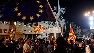 اسکوپیه پس از همه پرسی تغییر نام کشور به مقدونیه شمالی