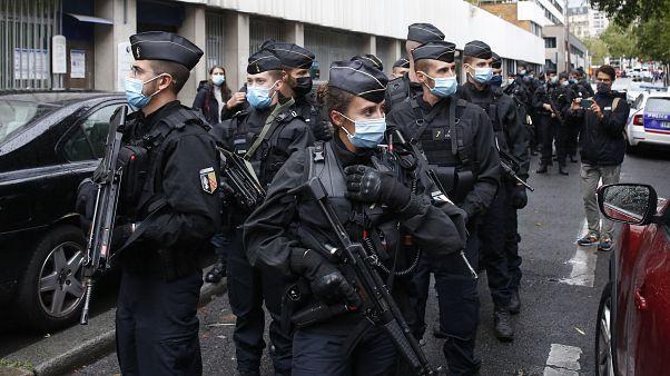 دورية راجلة للشرطة الفرنسية في باريس (أيلول/سبتمبر 2020)