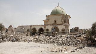 Musul'da savaşta tahrip olan Ulu Cami