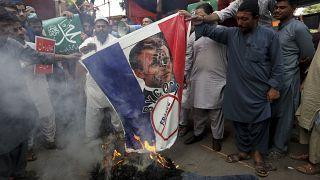 تظاهرات هفته گذشته در کراچی علیه فرانسه