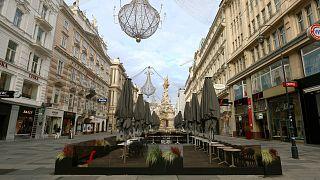 Bécs belvárosa 2020. november 17-én