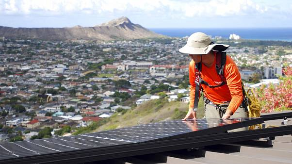 Rooftop solar panels like this one could be an area of intense competition in the next decade