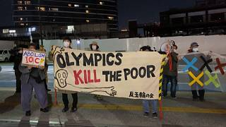 anti-Olympic protesters