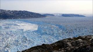 The three largest glaciers in Greenland