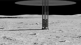 نمای یک سامانه شکاف هستهای فرضی روی سطح ماه