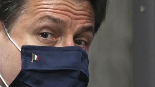Премьер-министр Италии Джузеппе Конте на саммите ЕС в Брюсселе. Июль 2020 года