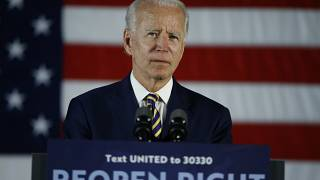 Archives : Joe Biden en réunion avec la communauté noire de Darby - Pennsylvanie -, le 17 juin 2020