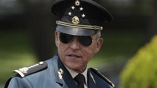 El general Salvador Cienfuegos en 2016, cuando era secretario de Defensa mexicano