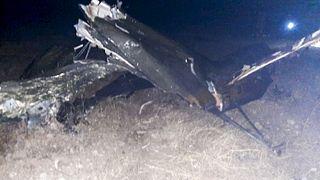 Обломки сбитого в Армении российского вертолёта