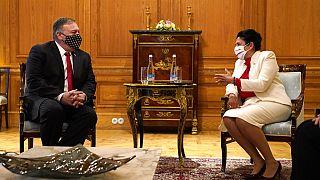 Mike Pompeo con la presidente della Georgia Salome Zourabichvili