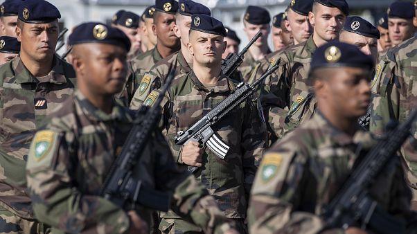 جنود فرنسيون في قاعدة روكلا العسكرية في ليتوانيا في سبتمبر-أيلول 2020