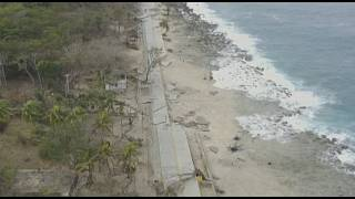 The Colombian island of Providencia, was devastated by hurricane Iota Monday