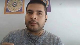El periodista José Miguel Hidalgo durante su conversación con Euronews