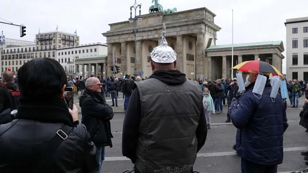 Anti-Covid restrictions protest in Berlin