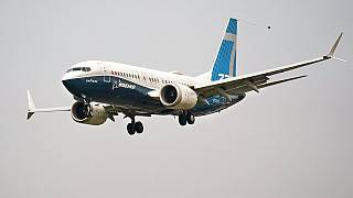 Boeing 737 Max jet, piloted by Federal Aviation Administration Chief Steve Dickson