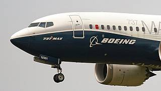 Boeing 737 Max'in ABD'deki test sürüşünden bir kare.