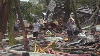 Desolación en la localidad de Bilwi, en la región Caribe Norte de Nicaragua