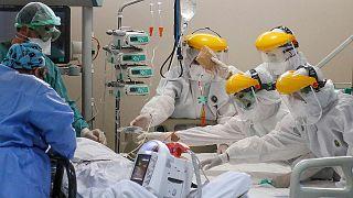 Türkiye'de bir hastane çalışanları