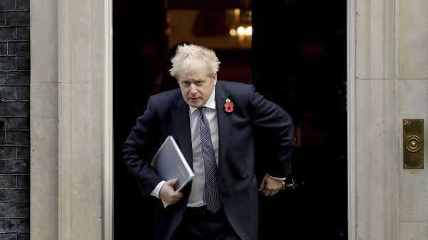 Le Premier ministre britannique Boris Johnson quittant le 10 Downing Street à Londres, le 10 novembre 2020.