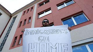 تظاهرات علیه حضور مهاجران در بوسنی