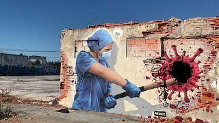 Роспись на стене в городе Порту