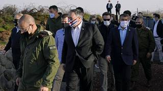 Secretary of State Mike Pompeo, Golan Heights