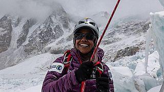 Nadhirah at the Everest Icefall©Elia Saikaly www.eliasaikaly.com Instagram - @eliasaikaly