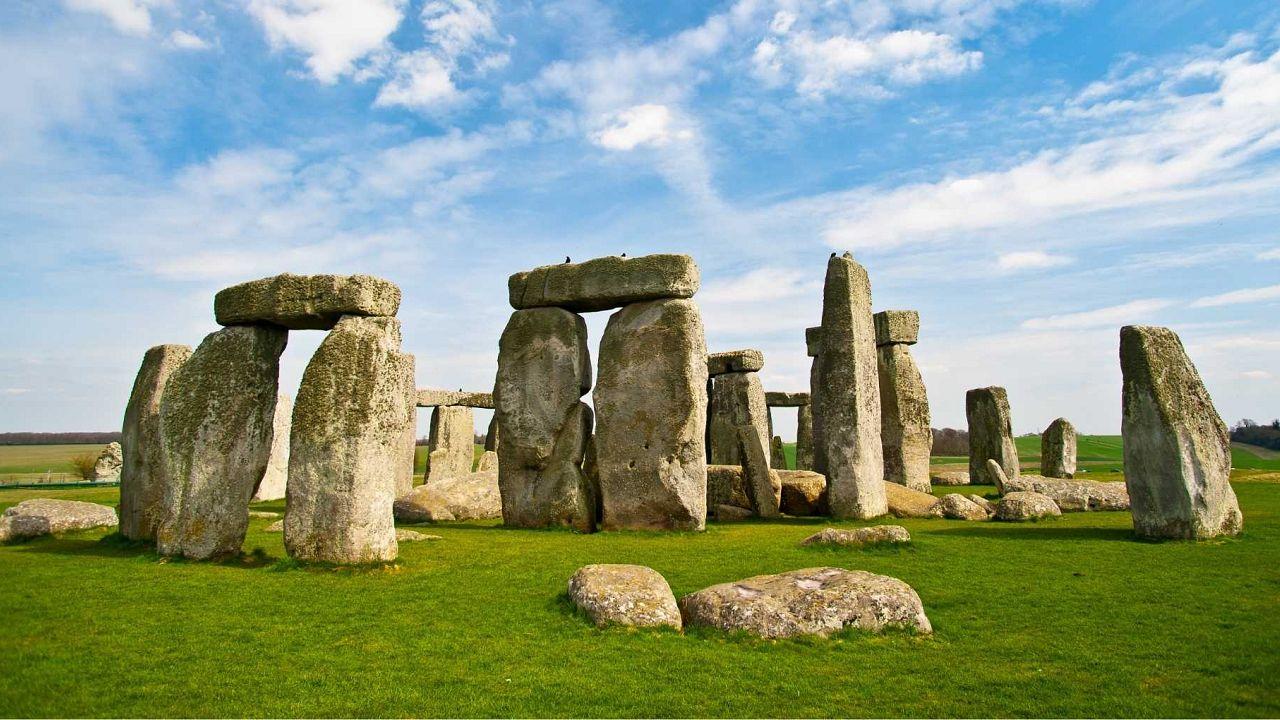 Stonehenge, a UNESCO world heritage site in Wiltshire, UK