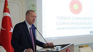 Cumhurbaşkanı Recep Tayyip Erdoğan, Türkiye İhracatçılar Meclisi heyetini kabulde bir konuşma yaptı.