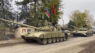 Azerbaycan ordu güçleri 27 yıl aradan sonra Ağdam iline girdi