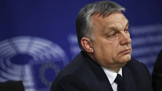 Hungarian Prime Minister Viktor Orban at the European Parliament in Brussels, Wednesday, March 20, 2019.
