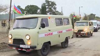 Aserbaidschanische Militärfahrzeuge