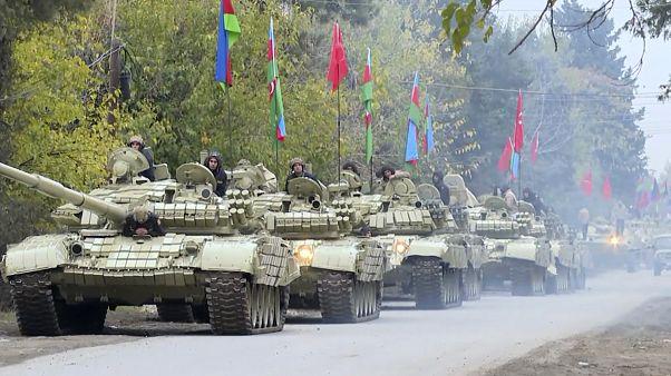 El Ejército de Azerbaiyán entra en Agdam