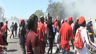 South African Police Clash with Anti-Racism Protesters in Cape Town