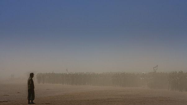 Foto de archivo de efectivos del Frente Polisario en 2008