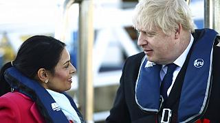 UK interior minister Priti Patel with Boris Johnson