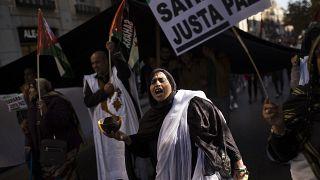 manifestazioni per il Sahara Occidentale libero a Madrid lo scorso 11 novembre