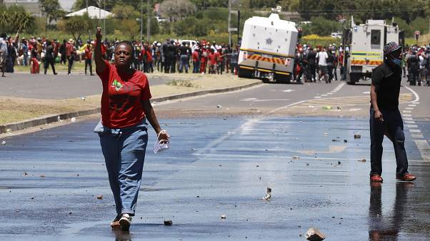 Protestkundgebung in Kapstadt