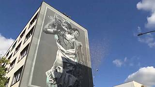 A mural in Rome that it's claimed eats pollution