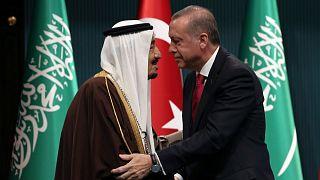 عکس آرشیوی از اردوغان و ملک سلمان