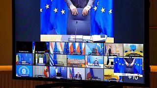 یکی از نشستهای ویدئویی مقامات اتحادیه اروپا